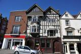 Old Tudor house converted into Lloyds TSB bank, Thames Street