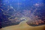Muar (Bandar Maharani) and the Muar River, Strait of Malacca, Malaysia