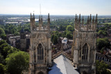 The west towers of York Minster from the central tower
