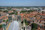 View east from the tower of York Minster