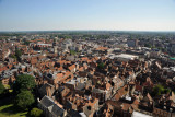 York's old town from the tower of York Minster
