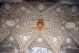 Stucco ceiling of the portico with the coat-of-arms of Paul V