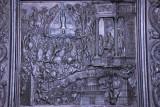Panel from Filarete's 1445 bronze door showing the Martyrdom of St. Peter