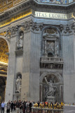 Beneath the main dome of St. Peter's Basilica