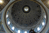 Michelangelo's dome, St. Peter's Basilica, finished by Giacomo della Porta in 1590