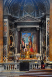 Altar of St. Joseph in the left transcept with a mosaic after Achille Funi, 1963