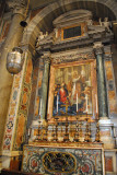 Altar of St. Gregory the Great (590-604) with a 1772 mosaic after Sacchi, 1625