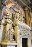 Monument to Pope Pius VII (1800-1823) by protestant sculptor Bertel Thorvaldsen ca 1830