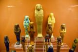 Various Ushabti (funerary figurines) of the New Kingdom, 1450-1000 BC