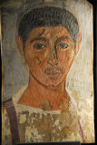 Fayum Portrait (painted funeral mask) of a young main, 220-250 AD