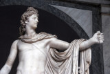 The god Apollo has just loosed an arrow at his enemy, the Python of Delphi