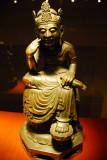 Seated Bosatsu (Bodhisattva) with one leg pendent, 7th C.