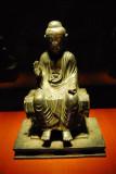Nyorai Buddha seated on a bench, Asuka period, 7th C.