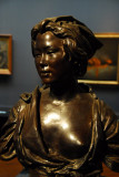Bronze bust of a Japanese woman by Vincenzo Ragusa, 1881