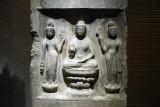 Buddha Triad, Baoqingsi Temple, Xi'an, 703 AD