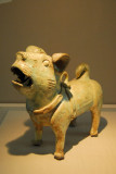 Green glazed pottery dog, Eastern Han Dynasty (China) 2nd-3rd C. AD