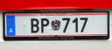Austrian Licenseplate - Bundespolizei