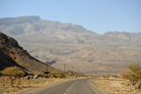 Jabal Shams with the windy dirt road leading up to Hayl As Sas