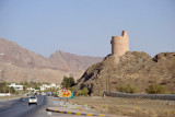 The road from Bahla entering Nizwa