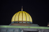 Dome of the Sultan Qaboos Grand Mosque at night