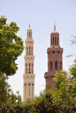 Corner minaret with the tall central minaret