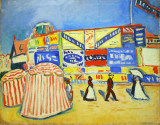 Posters at Trouville, Albert Marquet, 1906