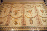 Roman Floor Mosaic from Tunisia with symbols of Bacchus as God of Wine and Theater, 3rd C. AD