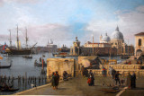 Entrance to the Grand Canal from the Molo, Venice, by Canaletto, ca 1742