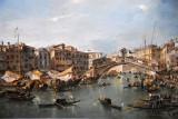 Grand Canal with the Rialto Bridge, Venice, Francesco Guardi, ca 1780