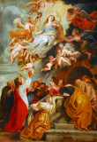 The Assumption of the Virgin from the studio of Sir Peter Paul Rubens, ca 1625