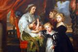 Deborah Kip, Wife of Sir Balthasar Gerbier, and Her Children, Sir Beter Paul Rubens, ca 1629
