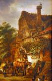 Workmen before an Inn, Isack Van Ostade, 1645
