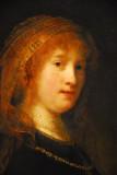 Saskia van Ulenburgh, wife of Rembrandt van Rijn, ca 1638