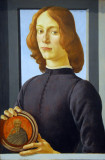 Portrait of a Young Man Holding an Medallion, Botticelli, ca 1480