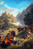 Arabs Skirmishing in the Mountains, Eugene Delacroix, 1863