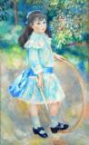 Girl with a Hoop, Auguste Renoir, 1885