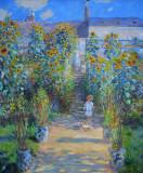 The Artist's Garden at Vétheuil, Claude Monet, 1880