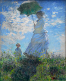 Woman with a Parasol - Madame Monet and her Son, Claude Monet, 1875
