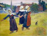 Breton Girls Dancing, Pont-Aven, Paul Gauguin, 1888