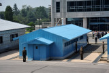 Meetings between North and South Korea take place in the huts