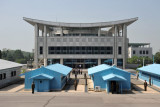 Panmunjom Joint Security Area looking at South Korea's House of Freedom