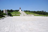 Plaza in front of the Kim Il Sung statue, Kaesong