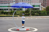 Instead, each major intersection in Pyongyang comes equipped with a Traffic Lady