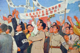 We welcome our great president Kim Il Sung