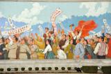 Mosaic of Kim Il Sung's 1945 speech on returning to Pyongyang