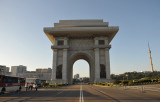 Arch of Triumph, built in 1982 to memorialize the trimuphal return of President Kim Il Sung