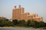 Buildings behind the Monument to Party Founding, Pyongyang