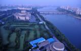 Yanggakdo Island with golf couse, cinema and stadium