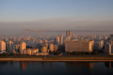 Pyongyang from the Yanggakdo International Hotel, early morning