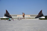 The vast square in front of the statue of President Kim Il Sung